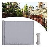 Multifunctio Patio Protección solar cubierta Pantalla de privacidad Cubierta de pantalla de privacidad, 3 × 16.4 pies, poliéster 180 g / m², cerca para piscina de patio trasero, protección contra el v