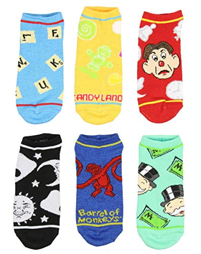 Monopoly And Board Games Women And Men 6 Pack Ankle Socks