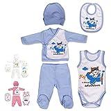 QAR7.3 Ropa Bebe Recien Nacido - 5 Piezas para Nios 0-3 Meses - Azul
