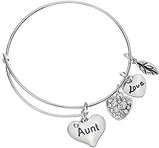 Infinity Collection Aunt Bangle Bracelet- Aunt Jewelry- Bracelets for Aunts for Special Aunt