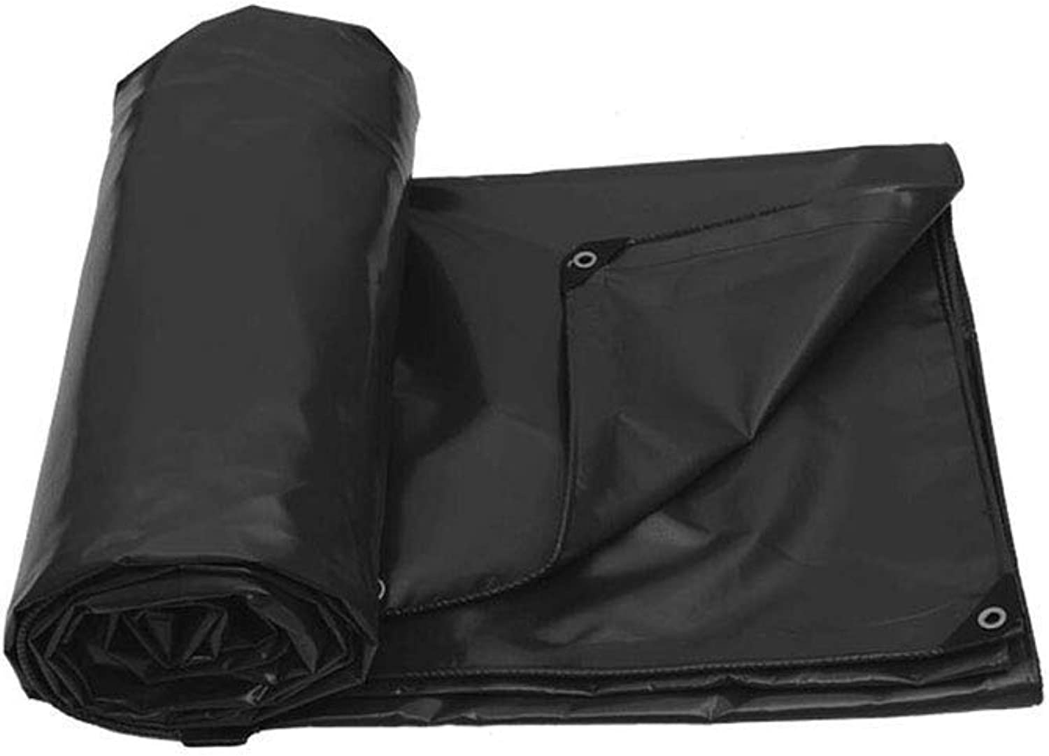 Outdoor Rainy Season Thick Double Waterproof Tarpaulin MultiFunctional Predective Tarpaulin Available in Various Size (color   Black, Size   3X3M)