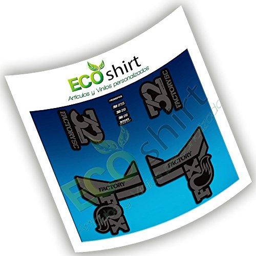 Ecoshirt DS-USSB-RZFM Pegatinas Fox 32 Factory SC Eco52 Fork Stickers Aufkleber Adesivi Bike Decals, Negro