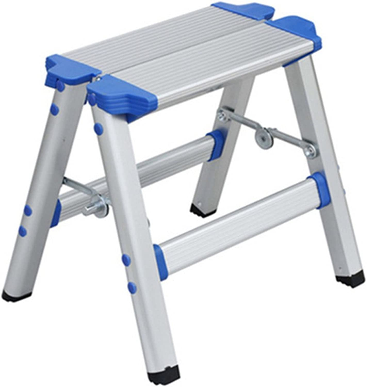 LIXIONG Folding Double Side Ladder 2 Steps Climb Climbing Photography Herringbone Stool Portable Home, Aluminum Alloy, 33cm high