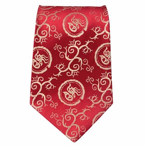 HXCMAN 9cm rouge or Dragon chinois cloud cravate style chinois 100% soie Fait main broderie cravate boite cadeau