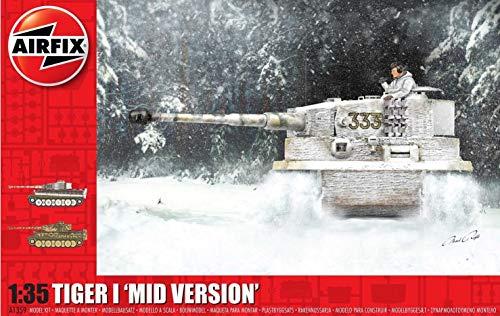 Airfix Tiger I Mid Version 1:35 WWII Military Tank Plastic Model Kit A1359
