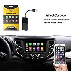 【COMPATIBLE DEVICE】Apply to Android and iOS,support Android system 4.3 and above or iPhone with IOS 9 and above.Car models:Android Auto system 4.0 and above. (Note:1, Original screen car does not supported, this Carplay only works with Android system...