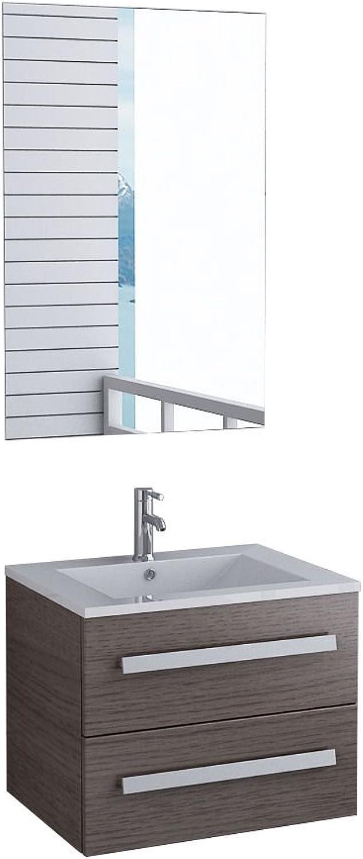 Unbekannt Badmbel Florida Gste WC Waschtisch Set mit 2 Schubladen 5 moderne Dekore
