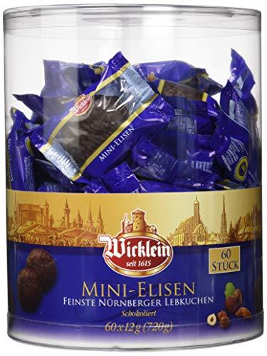 Wicklein Feinste Nürnberger Mini-Elisen-Lebkuchen, schokoliert, einzeln verpackt, 720g