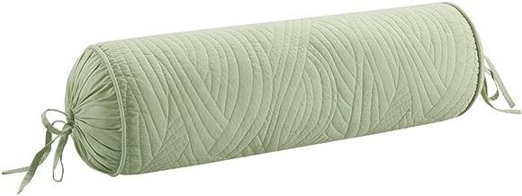 Harbor House Brisbane Fashion Cotton Bolster Throw Pillow, Coastal Pattern Bolster Pillow, D8X24, Sage