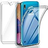 Leathlux Coque Samsung Galaxy a10 Transparente + 2 × Verre trempé a10 Protection...