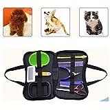 xinmao 8 Pcs Pet Grooming Tools Dog Travel Set - pet Grooming Brush Dog Comb Nail Clipper Folding Dog Bowl