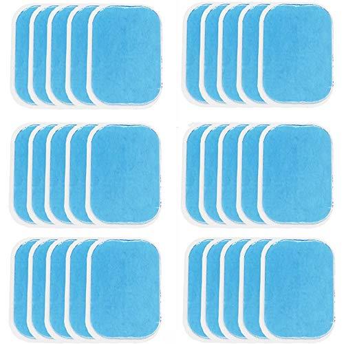 Breezeu 30PZ ABS Traneler Foglio di Gel Sostitutivo Cneltura Tonificante Addomnelale Toner Muscolare Ab Traneler Accessori Fogli di Gel per Gel Pad