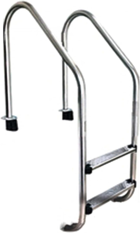 HHXD Inoxidable Escalera Pulida,Escalera de Piscina Con Peldaños Antideslizantes,Fácil de Instalar/银色 / W50.2cm*H133cm