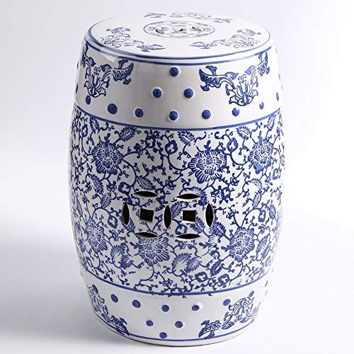 GYXZM Taburete De Jardín Taburete De Ceramica para Salón O Jardin - Mesa De Ceramica Color Azul Y Blanco