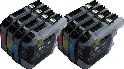 Start - 8 XL Ersatz Chip Patronen kompatibel zu Brother LC-123BK XL Schwarz, LC-123C XL Cyan, LC-123M XL Magenta, LC-123Y XL Gelb
