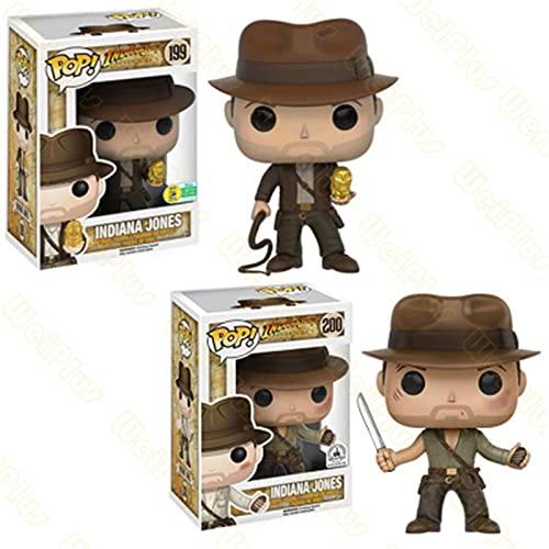 2 Piezas Pop Movie Raiders of The Lost Ark # 199 Indiana Jones Figuras De Acción Vinilo De Colección Modelo Juguetes Muñeca Amigos Niño Regalos De Cumpleaños
