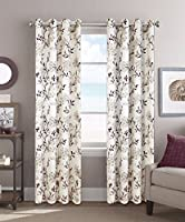 Colordrift Sadie 54 x 84 Inches Curtain with Grommet Finish - Purple