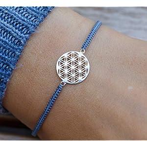Armband Blume des Lebens Geschenk silber 925