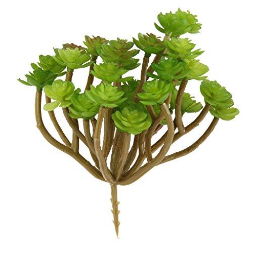 Kuenstliche 13 Zweig Buendel Kaktusfeige Foliage kunstblumen Kunstpflanz Pflanze Hauptdekor