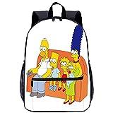 Visionpz The Simpsons Mochila universitaria Cartoon character Mochila al aire libre casual de la...