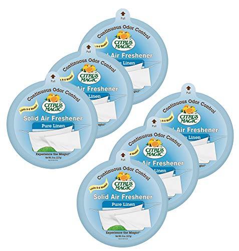 Citrus Magic Solid Air Freshener Pure Linen, Pack 6, 8-Ounces Each