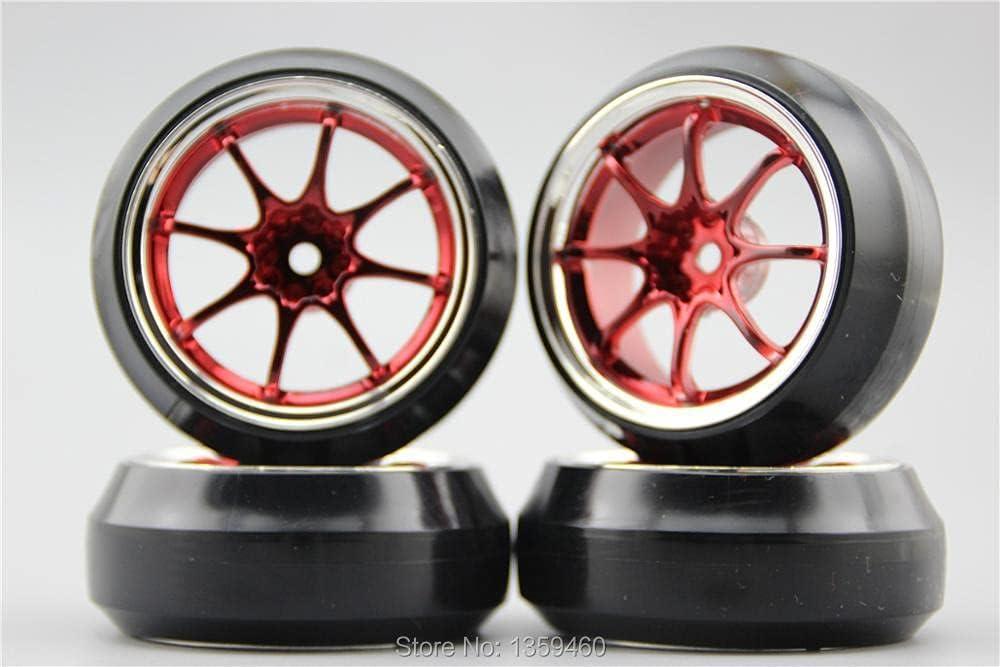 GzxLaY In a popularity 4pcs 1 10 Hard Drift Tire Rim W8S1CR Wheel Offse 3mm favorite Tyre