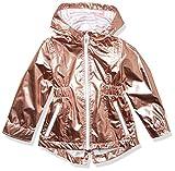 LONDON FOG Girls' Little Lightweight Mesh Lined Anorak Jacket, Rose Gold, 4