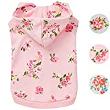 <span class='highlight'>Blueberry</span> <span class='highlight'>Pet</span> 2019 New Spring Scent Inspired Daisy Flower Pullover Dog Hooded Sweatshirt in Baby Pink, Back Length 30cm, Pack of 1 Clothes for Dogs