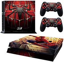 Ps4 Console Skins,Compatible with Playstation 4 Console Skin| ps4 Skins| ps4 Stickers|ps4 Decals|ps4 Skins Console and Controller |Ps4 Cover Skin Vinyl for ps4(Spiderman ps4 Skin)