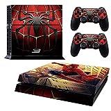 Ps4 Consola Pieles, compatible con Playstation 4 Consola Piel | PS4 Pieles | PS4 Adhesivos | PS4 Calcomanías | PS4 Skins Consola y Controlador | Ps4 Cover Skin Vinilo para PS4 (Spiderman PS4 Skin)