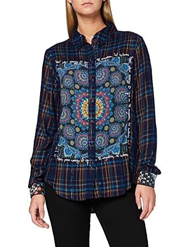 Desigual Damen Shirt Creta Hemd, Gelb (Curry 8030), (Herstellergröße: XX-Large)