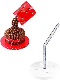 1PC Cake Support Structure Frame Anti Gravity Cake Pouring Kit Reusable Standing Cake Decorating Armature Frame For Birthday,Wedding,Anniversary Party
