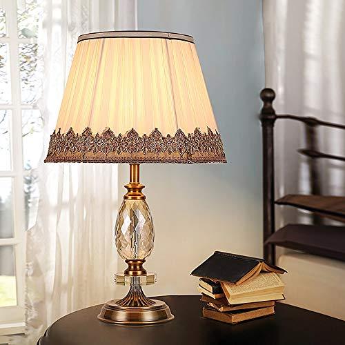 De enige goede kwaliteit decoratie High-end K9 Champagne Crystal tafellamp Europese warme slaapkamer nachtkastje tafellamp
