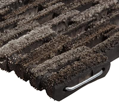 """Durable Dura-Rug Recycled Fabric Tire-Link Outdoor Entrance Mat, 17"""" x 25"""""""