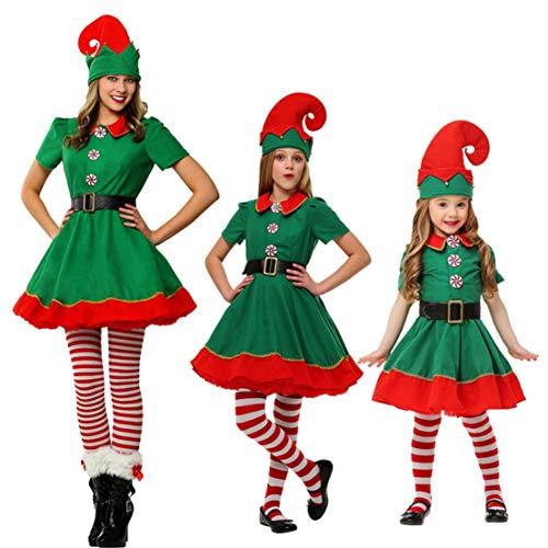 Elfen Outfit Weihnachtskostüm Weihnachtself Kostüm für Damen, Herren Kinder für Weihnachten, Karneval, Cosplay