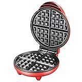 Macchina per waffle tondo, con piastre antiaderenti e controllo automatico della temperatura, maniglia tocca fresca da 1200W