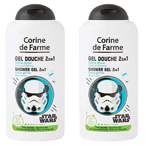 Corine de Farme | Star Wars | Disney | Gel douche 2en1 Extra Doux Corps & Cheveux | Lot de 2