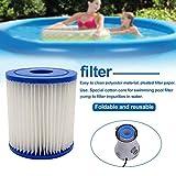 'N/A' EUtoptrader 2 Piezas de Filtro de Piscina Inflable, Filtro de SPA, para Intes Tipo H, Lavable, Reutilizable, Filtro de Piscina, Cartucho de Espuma, Accesorios de Acuario