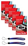 SanDisk Cruzer Blade 8GB (5 Pack) SDCZ50-008G USB 2.0 Flash Drive - Five Pack Retail Packs Bundle with(2) Everything But Stromboli Lanyards