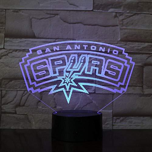 3D Lampe Spurs San Antonio Geschenk Für Teenager Für Wohnzimmer Dekoration Helle Basis Led Nachtlicht Lampe Atmosphäre