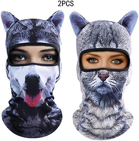 Outgeek Cat Mask Women Men Balaclava Summer Full Face Hat Animal Ears Sports Helmet Climbing product image