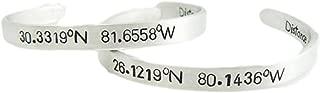 Coordinates Bracelets GPS Set - Hand Stamped 1/4