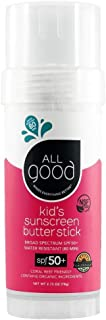 All Good Kids Butter Stick - Mineral Sunscreen for Face, Nose, Ears - Coral Reef Safe - Water Resistant - UVA/UVB Broad Sp...