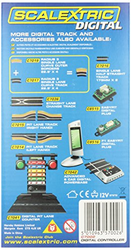 Scalextric Digital C7002 Hand Throttle including 5 x Colour Clips 1:32 Scale Accessory
