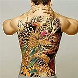 tzxdbh 2pcs-men tatuaggi temporanei trasferire grandi d'acqua pieno di tatuaggi indietro dragon tattoo ali del tatuaggio e della body art sticker decalcomanie grandi 2pcs 14