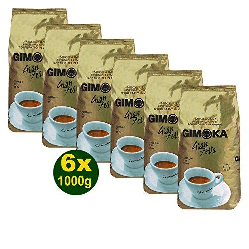 Gimoka Gran Festa Kaffee Gold Ganze Bohnen 6x 1000g (6000g) - ein Fest der Sinne!