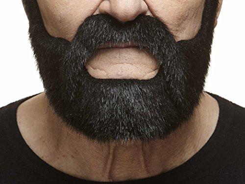 Mustaches Schwarzer fälschen, selbstklebend Bart und Schnurrbart eines Edelmannes
