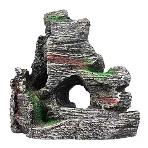 POPETPOP Simulación de Acuario Rocalla Pecera Decoraciones Piedra de Resina Artificial Decoración de Acuario Simulación Colina Camarones Escondite de Peces para Acuario Acuario Hogar