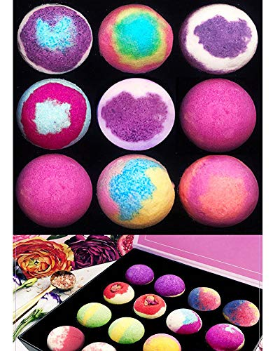 Bath Bombs Gift Set 4,6,12,24 Made Fizzies, Shea & Coco Butter Dry Skin Moisturize, Perfect for Bubble & Spa Bath. Handmade Birthday Mothers Day Gifts idea for Her/Him, Wife, Girlfriend (6 Pcs)
