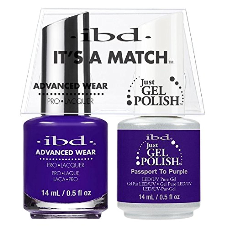 透明に簡潔な傑出したibd - It's A Match -Duo Pack- Passport to Purple - 14 mL / 0.5 oz Each